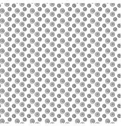 Swirl dot seamless pattern vector