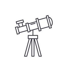 Telescope line icon concept vector