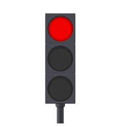 Traffic light red light on vector
