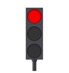 traffic light red light on vector image