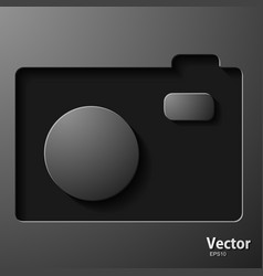 Video camera icon on a background vector