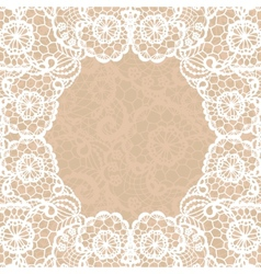 Vintage lace invitation card vector image