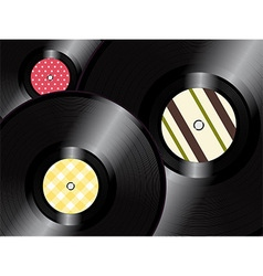 Vinyl records background vector