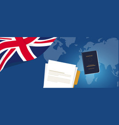 visa application document or work student permit vector image