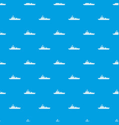 Warship pattern seamless blue vector