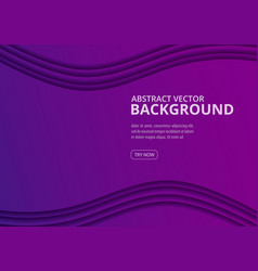 wavy geometric background ultra violet trendy vector image