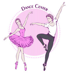 dance line color ballet vector image