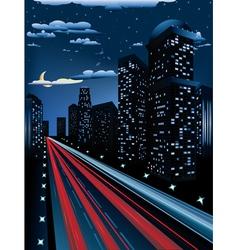 Night City Road3 vector image