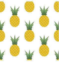 pattern with pineapples vector image vector image