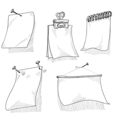Pieces of paper for text sketch vector image vector image
