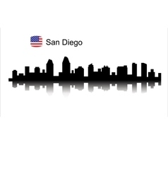 San Diego silhouette vector image