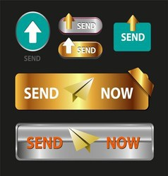 Send Now Button Collection of Send Now Icon vector image