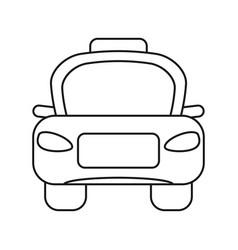 taxi car public vehicule thin line vector image