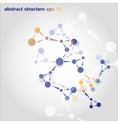 abstract structure vector image vector image