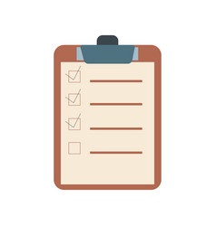 checklist flat design icon vector image