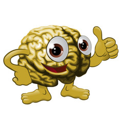 brain cartoon character vector image