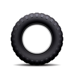 Car tire isolated on white background vector image vector image