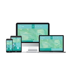 responsive website template vector image