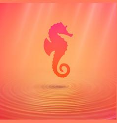 Seahorse on the ocean floor an unusual color vector