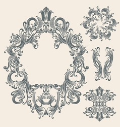 Victorian frame vector image vector image