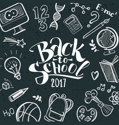 back to school with doodle frame vector image vector image