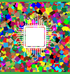Cpu microprocessor white vector