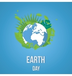 Earth Day Ecology concept vector image vector image