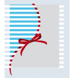 giftwrap bow vector image vector image