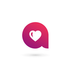 letter a heart logo icon design template elements vector image vector image