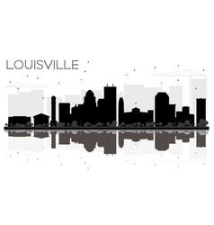 louisville kentucky usa city skyline black and vector image