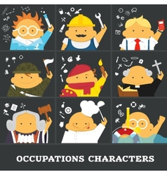 Occupations vector image vector image