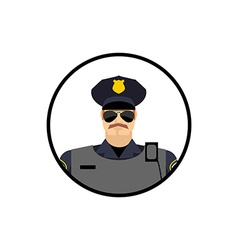 Police avatar Cop in uniform Head policeman vector image vector image