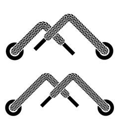 shoe lace mountain walking symbols vector image vector image