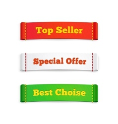 Tags labels or commercial banners on white vector image vector image