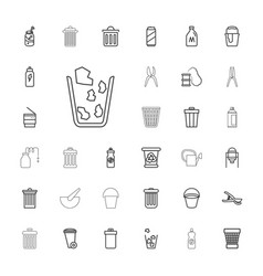 33 can icons vector