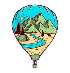 Air balloon travel vector