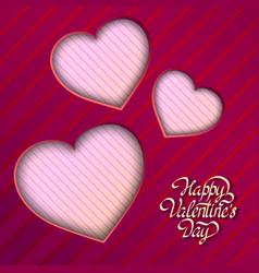 amorous festive template vector image