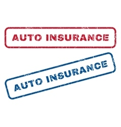 Auto Insurance Rubber Stamps vector