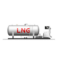 Automotive modular filling with liquefied gas vector