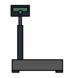 balance scale warehouse icon vector image