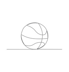 basketball one line drawing vector image