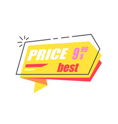best price 999 arrow sticker discounts pointer vector image