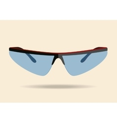 Bicycle sport sunglasses vector