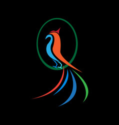 bird abstract logo vector image