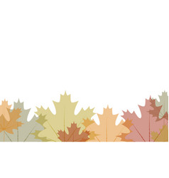 Border transparent autumn leaves vector