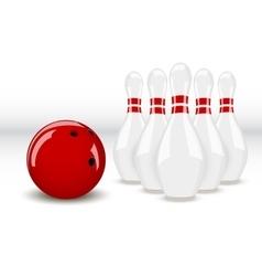 bowling ball and pins vector image