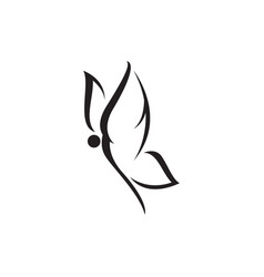 butterfly logo template monochrome design vector image