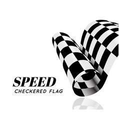 checkered race flag isolated vector image