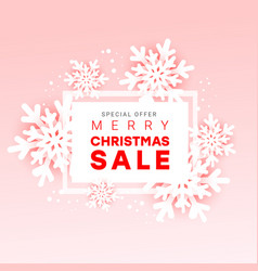 Christmas sale horizontal advertising banner with vector