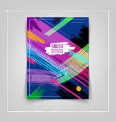 Colorful brushstrokes cover design eps10 vector
